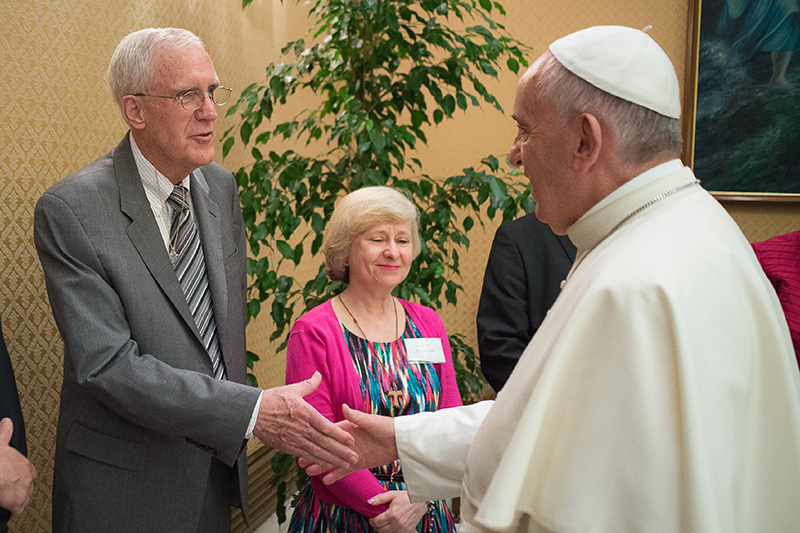 Don Mitchell and Pope Francis