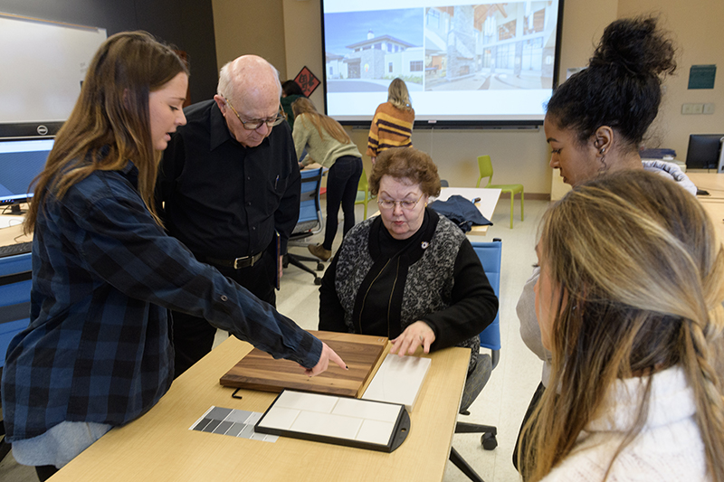 Westminster Village seniors visit with Purdue students to redesign retirement community floor plans